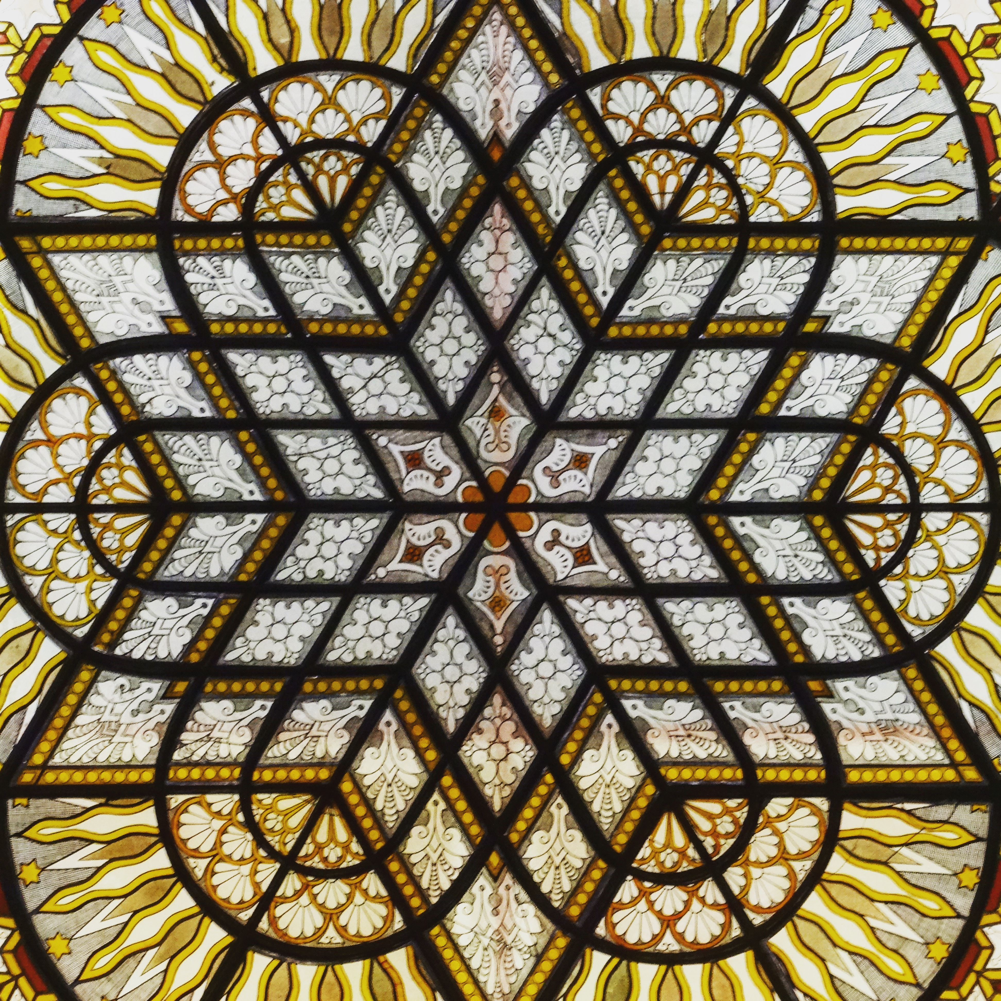 Individual Third Place Synagogue Stained Glass pattern - St.John Burkett