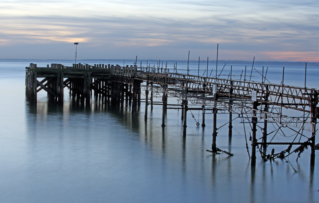 Third Place - Totland – peering across the Solent by John Hiller